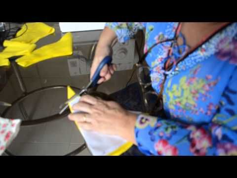 Como cortar e costurar saia godê e com abertura em cascata - Aula 26
