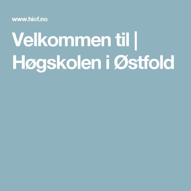 Velkommen til  | Høgskolen i Østfold