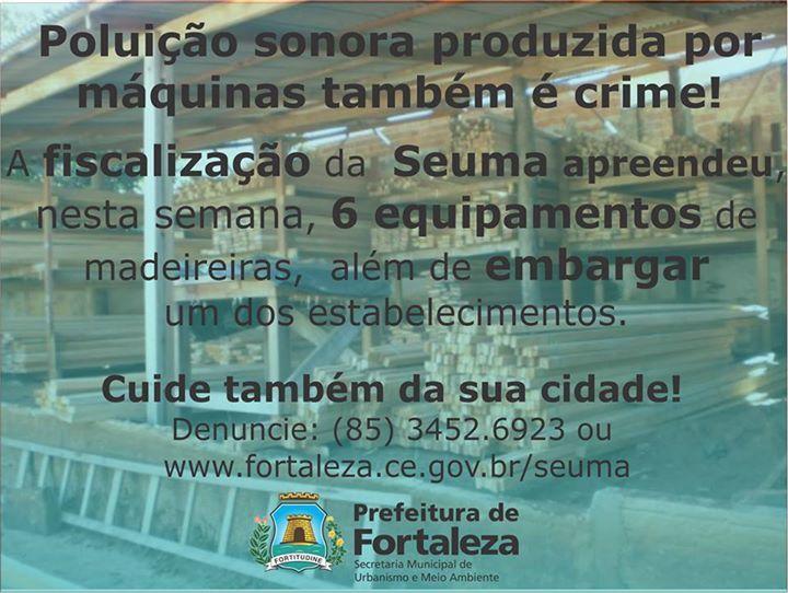 10/04/2015 - Fortaleza divulgando apreensão de máquinas por poluição sonora