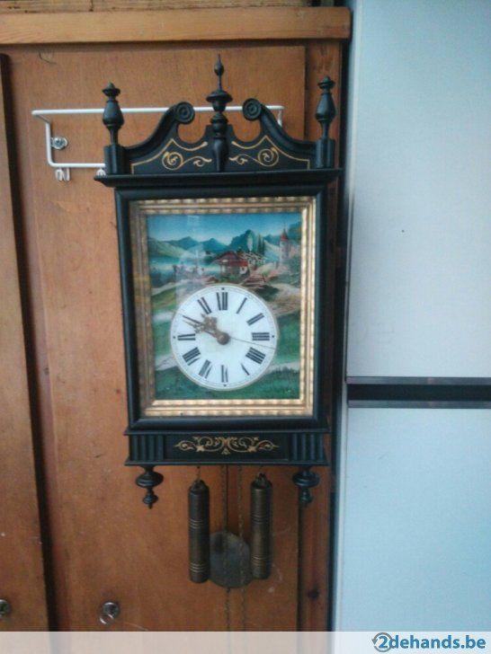 Gebruikt: wandklok, werk nog, enkel binnenglas is kapot (Klokken & Barometers) - Te koop voor € 150,00 in Lommel