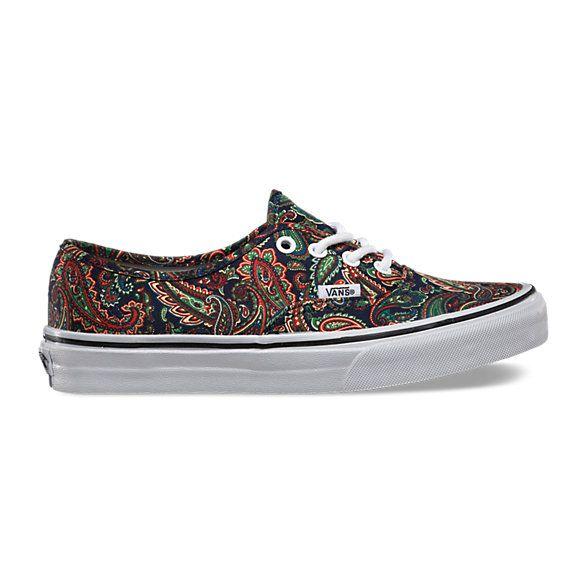 Paisley Authentic | Shop Womens Shoes at Vans -- Shop online at Vans through Zoola and get cash back!