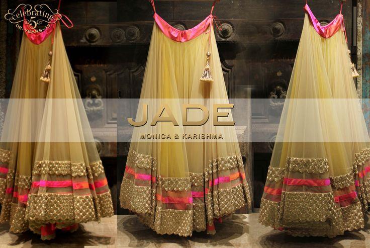 JADE's Princess like Lehenga! #JADEbyMK #Lehenga #Pink #tulle