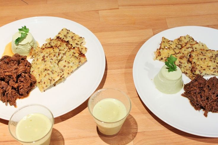 Coriander Panna Cotta with Cauliflower Crackers