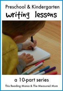 Welcome back to Preschool and Kindergarten Writing Lessons, a 10 week writing series between The Measured Mom and me. If you are just joining us, feel free to visit the post that includes all the links to our series so far. Today, I'd like to talk a little about teaching kids how to write a …
