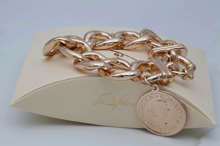 Rose Gold coin bracelet from our 2015 Collection by La Votre!