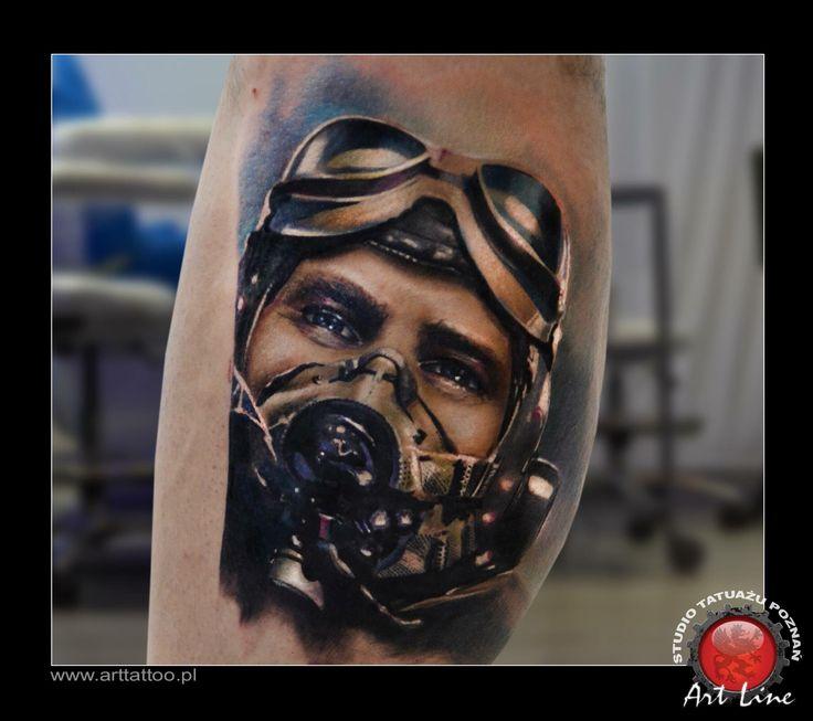 Pilot Tattoo. Artist Dominik Szymkowiak. www.arttattoo.pl