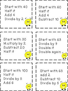 Increase Mental Math with your students..... FREEBIE