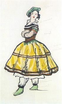 Ballerina. Costume design - Alexandre Benois