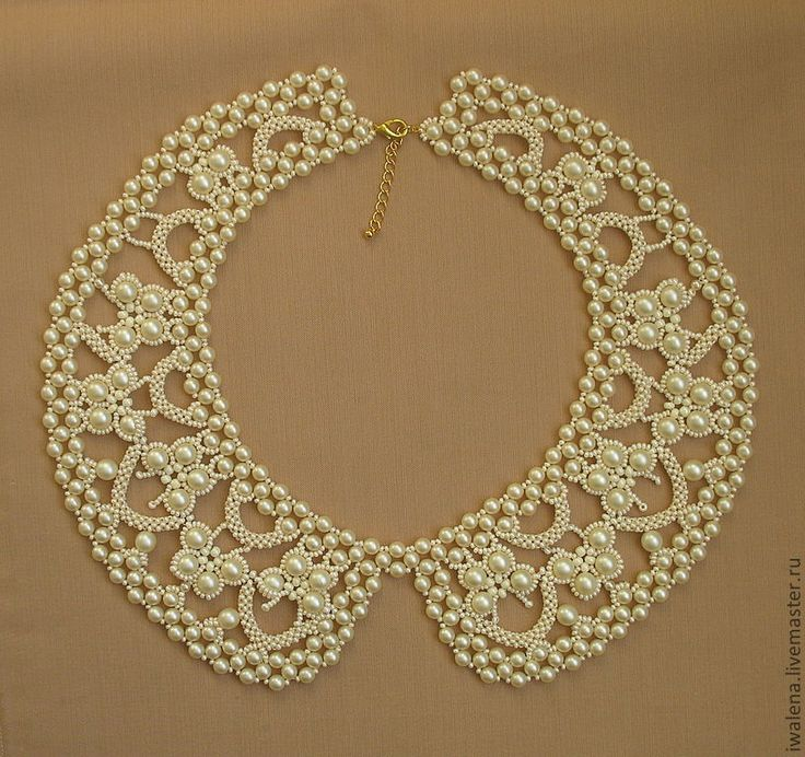 pearl collar necklace <3