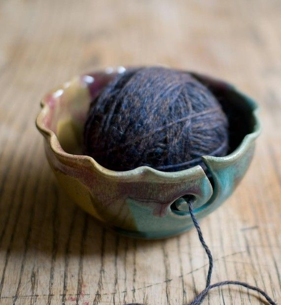 Yarn Bowl - This would make my ever present ball of yarn in my living room look like it has a place! Nice and organized. LOVE this!