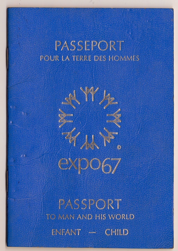 I was lucky enough to go to the Montreal Expo in 1967. Every building that we visited they would open up our passport and they would stamp the inside of it.