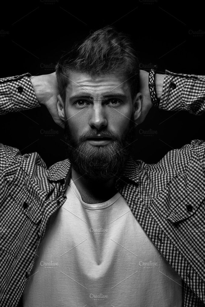 Young bearded man portrait by Usmanov Stock Photography on @creativemarket