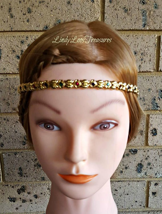Vintage Gold Tone Headband Wedding Bridal Headpieces Hair