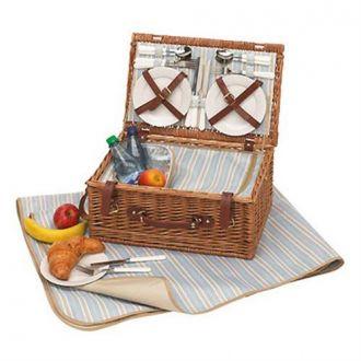 Picknickkorb Weide MADISON PARK für 4 Personen mit Kühlfach u. Decke
