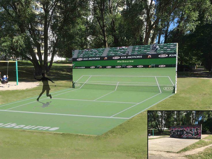 Rewitalizacja ścianki do tenisa Praga Warszawa