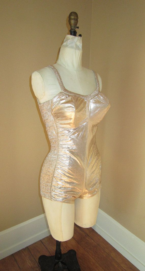 Pink Champagne Gold Lam 201 Movie Star Swimsuit And Cover Up