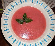 Bulgarian chilled watermelon soup