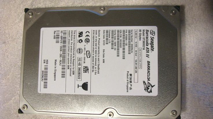 The Seagate Barracuda ATA IV 80 GB ATA-100 Hard Drive is fully compatible with PC systems.The Hard Drive connect by: DMA/ATA-100 (Ultra) for Internal utilization. Spinning up to 7200 RPM and offering capacity as large as 80 GB.  Buy it Now: $25.95