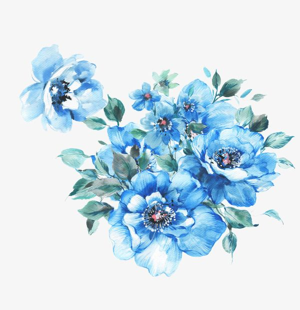 Blue Flower Decoration Flower Clipart Blue Flowers Png Transparent Clipart Image And Psd File For Free Download Blue Flower Png Flower Background Wallpaper Blue Flower Wallpaper