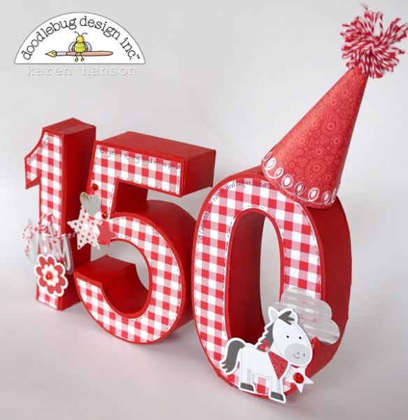 Happy 150 Canada by Karen Hanson for Doodlebug Design