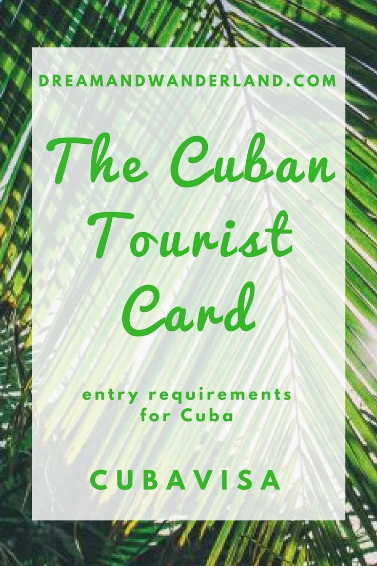 #ad The Cuban Tourist car. An absolutely essential requirement for entering Cuba. Get your tourist card here. (This is an affiliate link) #travel #cuba #touristcard #visa