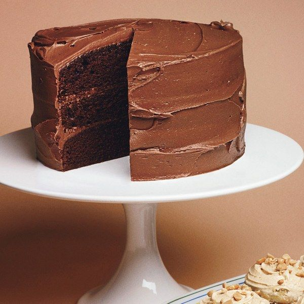 Mayonnaise replaces         the oil that's typically used in chocolate         cakes. It gives this cake—which would make         the ideal birthday cake—an incredibly moist         and tender texture. Serve with glasses of         ice-cold milk.