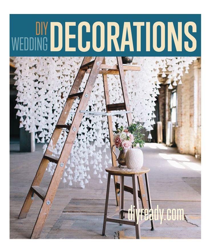 DIY Wedding Decorations Homemade Wedding Decorations and DIY Wedding Decor you can make for little money.  DIY Weddings