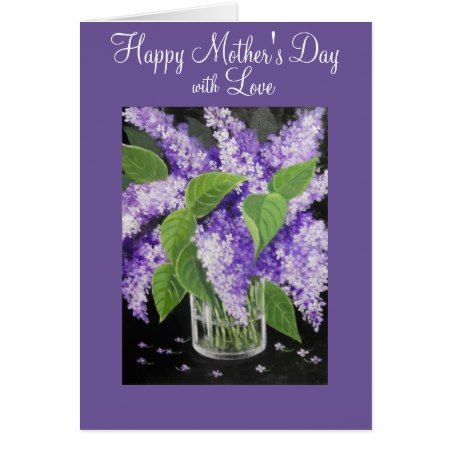 Lilac floral Mother's Day greeting card - tap, personalize, buy right now!