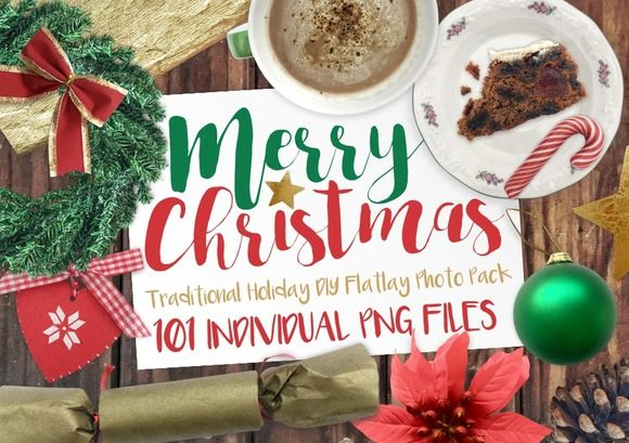 Merry Christmas PNG Photo Pack by MyCosmicShop on @creativemarket