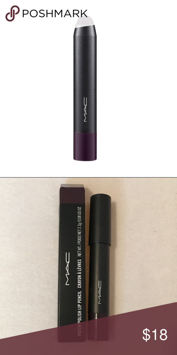 "M•A•C 'Berry Black' Patentpolish Lip Pencil Authentic and discontinued by MAC, Patentpolish Lip Pencil in ""Berry Black Friday"", a blackened plum. Never used or swatched, only opened for these photos. MAC Cosmetics Makeup Lip Balm & Gloss"