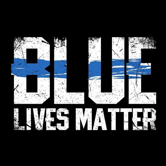 Police and Law Enforcement Blue Lives Matter Stripe