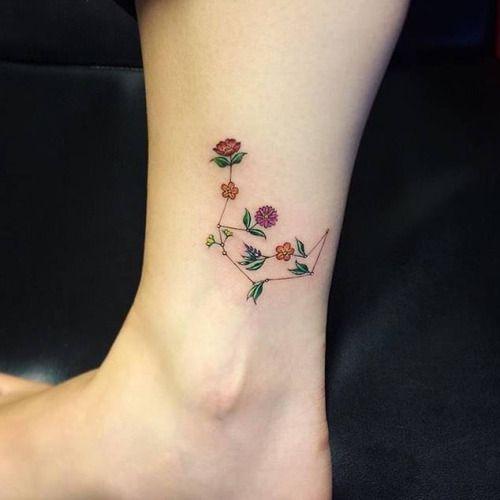 Design de Tatuagem da Constelação de Aquário | Fotos de Tatuagens