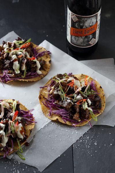Beer Recipes Asian Beer Braised Pork Neck Tacos