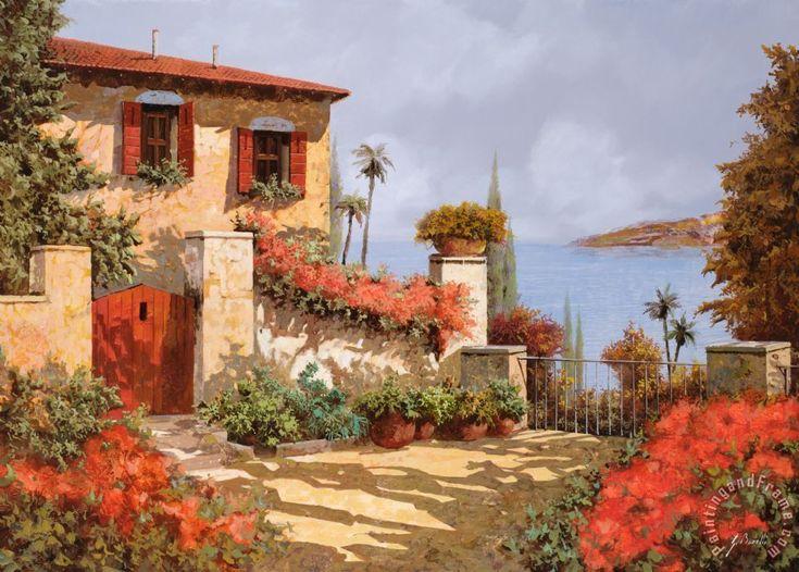 collection 7 il giardino rosso painting il giardino rosso print for sale bouleauxhuilepaysagespeinturetableauxtableaux - Nettoyer Une Peinture A L Huile Encrassee