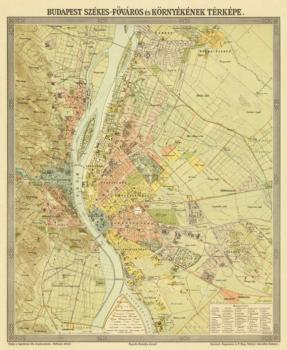 Budapest old map , 1900