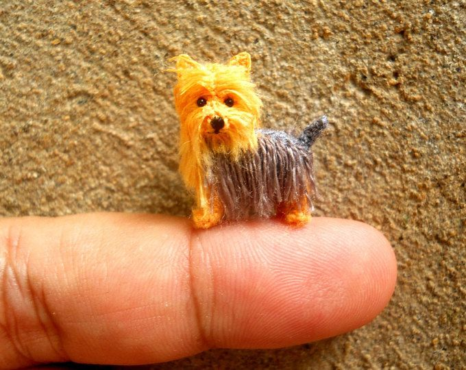 Maltese Puppy Tiny Crochet Miniature Dog Stuffed Animals Made