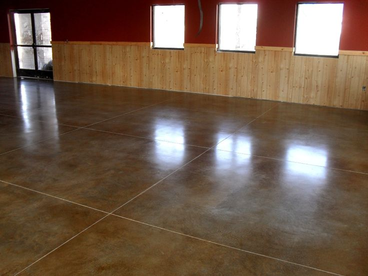 Polished concrete floors in homes color juice american for Stained polished concrete floor