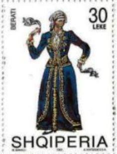 2002 Albania-Trajes Nativos-Mujer de Berat.