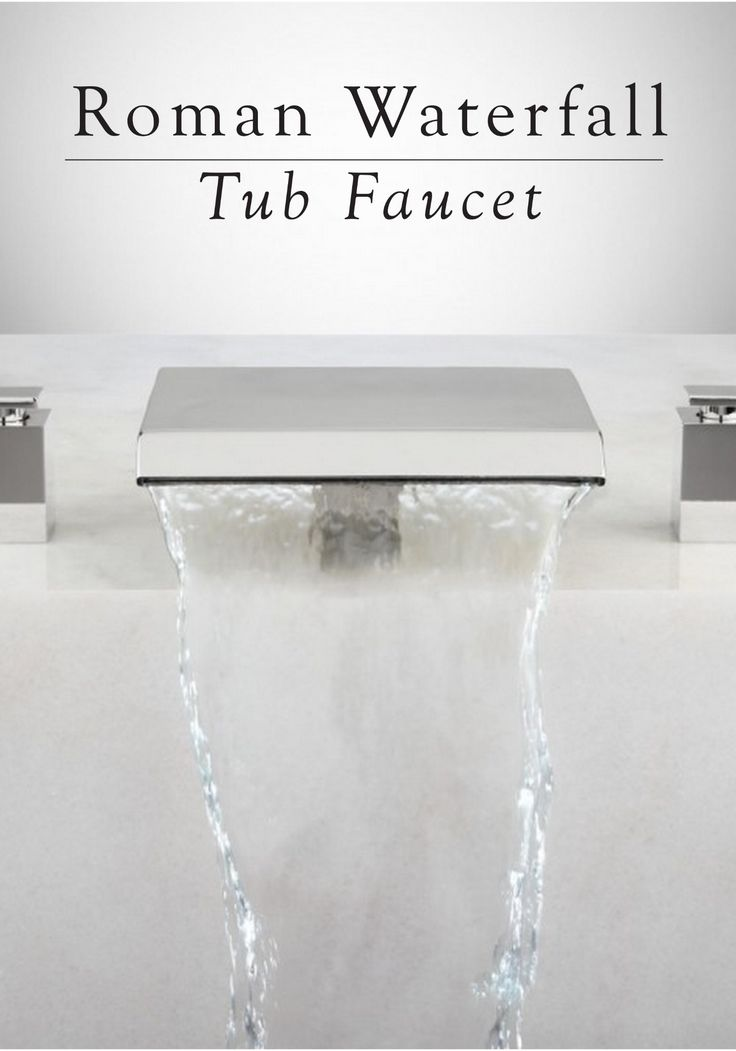 Imagine this gorgeous tub faucet featured in your luxurious master bathroom. It's the perfect piece to accent your soaking tub.