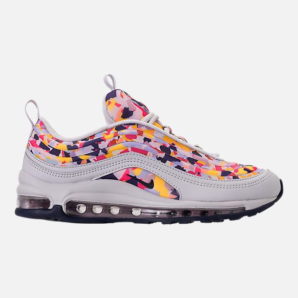 0c10363537b2 Right view of Women s Nike Air Max 97 Ultra 2017 Premium Casual Shoes in  Vast Grey Obsidian Elemental Rose