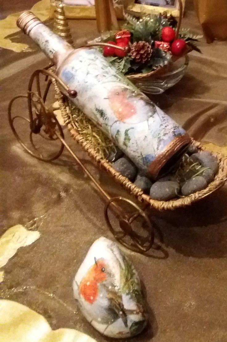 """μπουκάλι χριστουγεννιάτικο """"Καλλιόπη"""""""