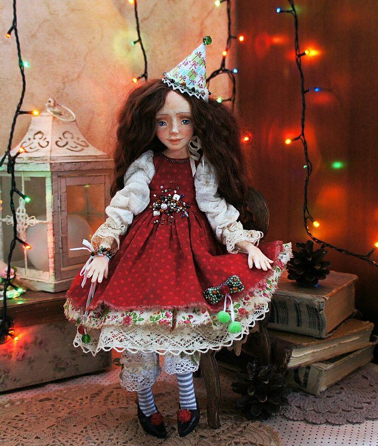 Susie. Art handmade doll. www.ArtDollsOsminko.etsy.com
