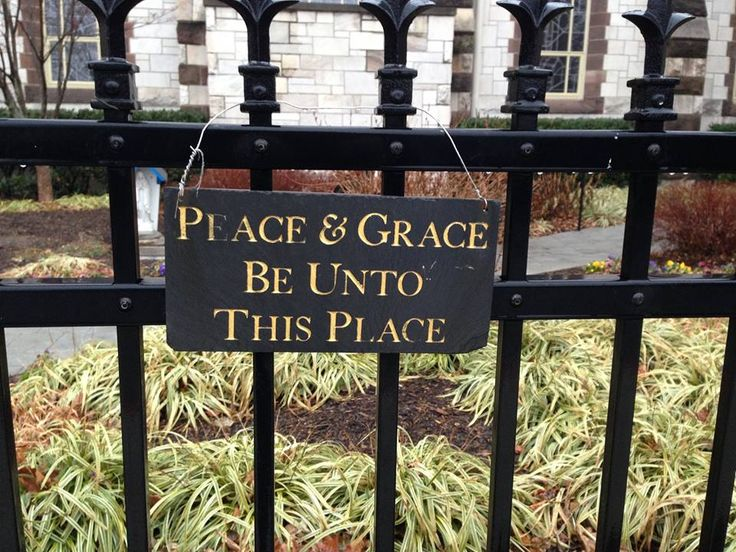 Sign on Adoration Chapel Garden of the Church of the Immaculate Conception in Towson, MD