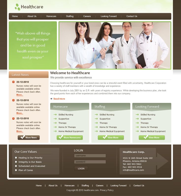 HealthCare  Website Development Company  Looking for #Creative Websites for  #HealthCare Industry , we #design, #develop and  provided with #CMS to highlight services.. We delivered many #projects for Healthcare Industry with #customization and #development.  Send your quote now!!! Call 713-589-6496  Visit: http://www.desss.com