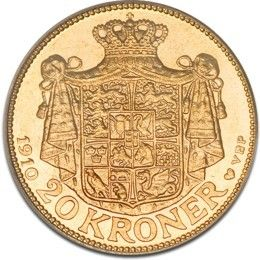 GOLD 20 KRONER, DANISH KRONE, FREDERIK VIII. in stock and has just been added to  http://www.finesilvercoins.co.uk/gold-20-kroner-danish-krone-frederik-viii/
