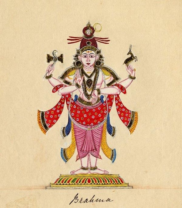 Chandrashekharamurti, a form of Śiva , stands in samabhanga on a low pedestal. Company school, Tamil Nadu, c.1820