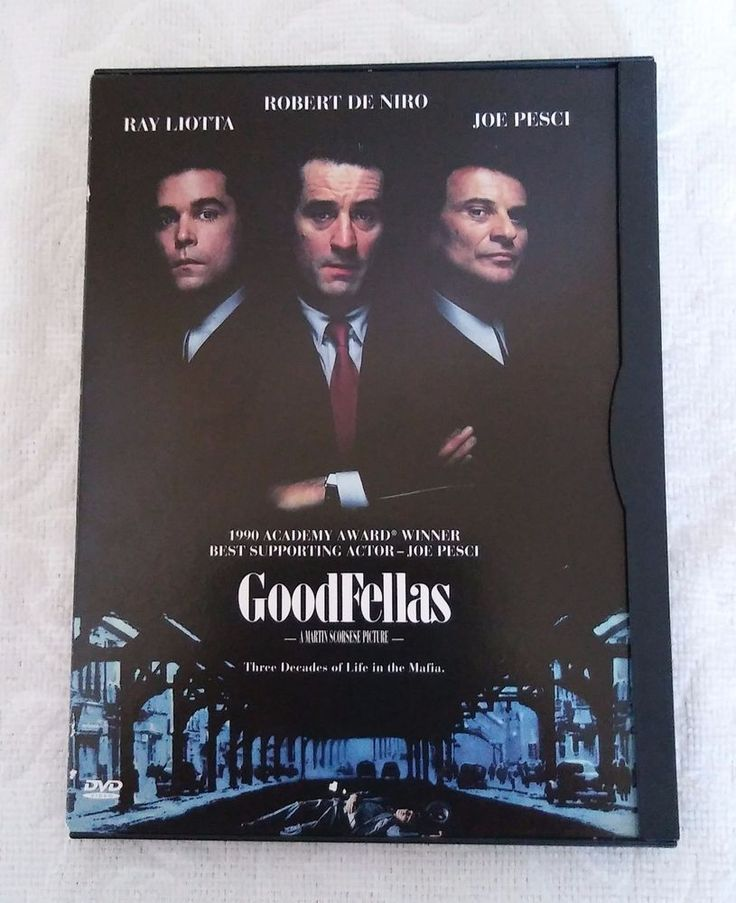 Goodfellas DVD Robert De Niro Paul Sorvino Joe Pesci Lorraine Bracco Ray Liotta
