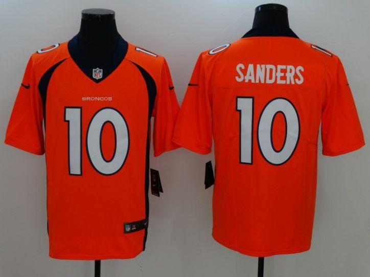 2ec2094eb95 Men Denver Broncos 10 Sanders Orange Nike Vapor Untouchable Limited NFL  Jersey