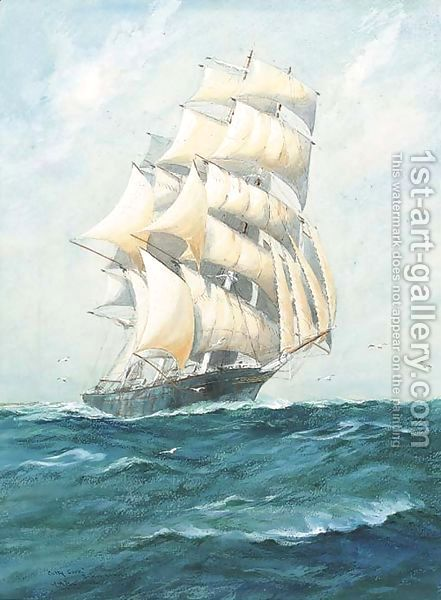 Cutty Sark, British clipper by William Minshall Birchall
