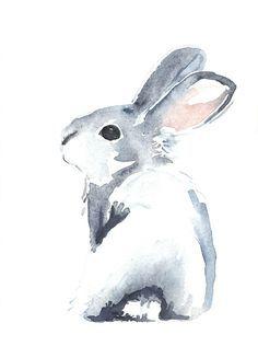 """Moon Rabbit II"""" by Denise Faulkner   Redbubble   KUNST PAINTING ..."""